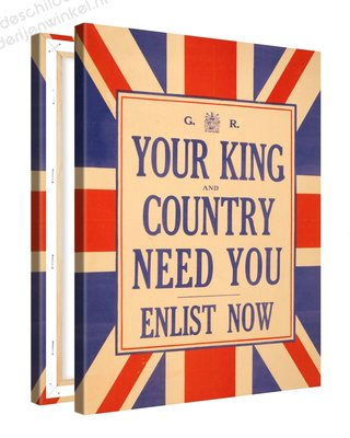 Schilderij Your King Country Need You (75x100cm)