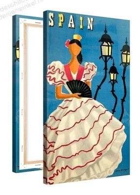 Schilderij Spain Flamingo Danser (60x100cm)