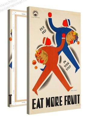 Schilderij Eat More Fruit (60x100cm)