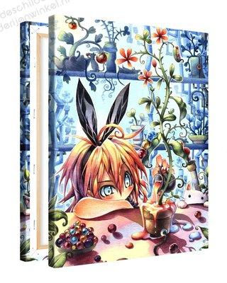 Schilderij Knikkerplant Anime (75x100cm)