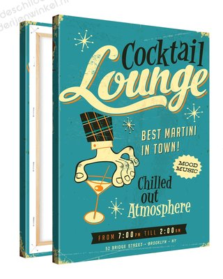 Schilderij Cocktail Lounge (75x100cm)