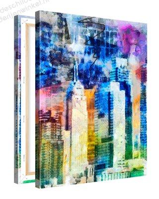Schilderij Kunstwerk Van Manhattan (75x100cm)