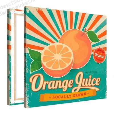 Schilderij Orange Juice Organic (80x80cm)