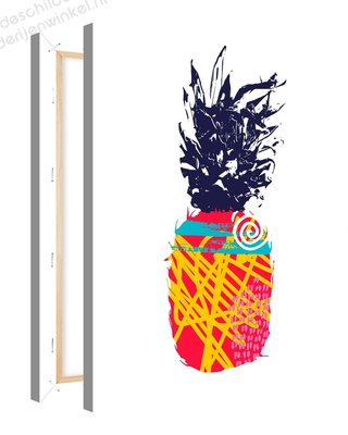 Schilderij Ananas Mood Creativiteit 1 (75x100cm)