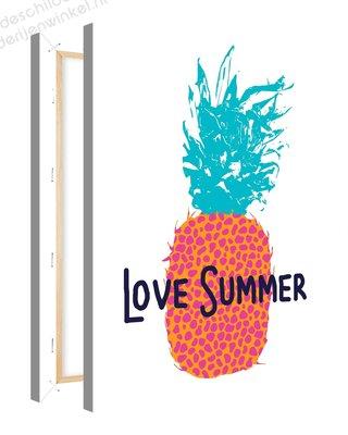 Schilderij Ananas Love Summer (75x100cm)