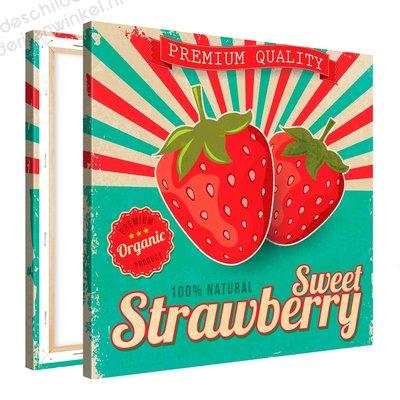 Schilderij Sweet Strawberry Organic (80x80cm)
