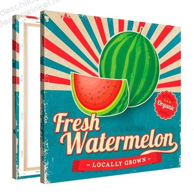 Schilderij Fresh Watermelon Organic (80x80cm)