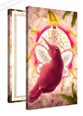 Schilderij Pitaja Fruitvogeltje (60x100cm)