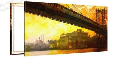 Schilderij Manhattan Kunstwerk (100x50cm)