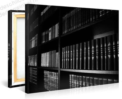Schilderij Boekenkast (100x75cm)