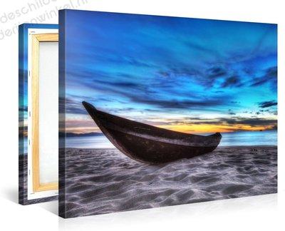 Schilderij Boot (100x75cm)