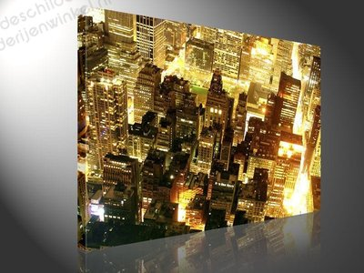Schilderij Een Nacht in New York (100x75cm)