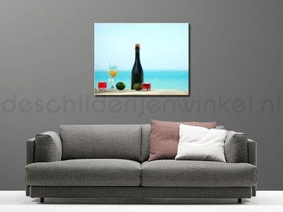Schilderij Strand En Wijn 2 (100x75cm)