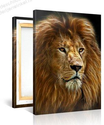 Schilderij Leeuw Spirit (75x100cm)