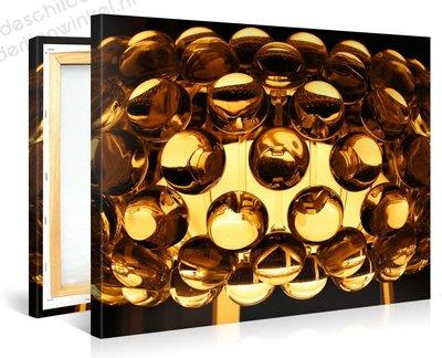 Schilderij Gouden Retro Lamp (100x75cm)