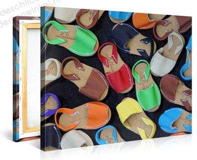 Schilderij Kleurrijke Sandalen (100x75cm)