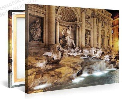 Schilderij Trevi-fontein In Rome (100x75cm)