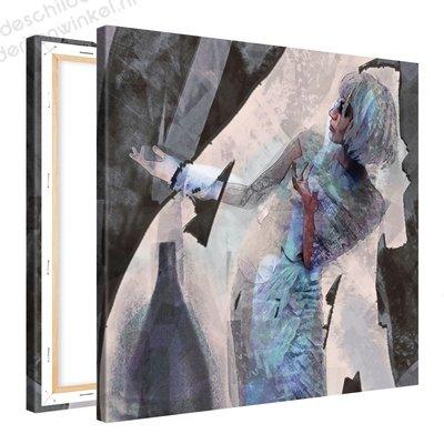 Schilderij Drapaat [MMFTP] (80x80cm)
