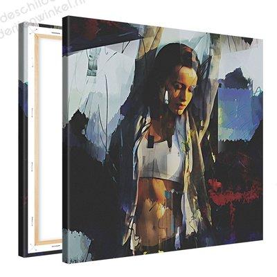 Schilderij Joelen [MMFTP] (80x80cm)