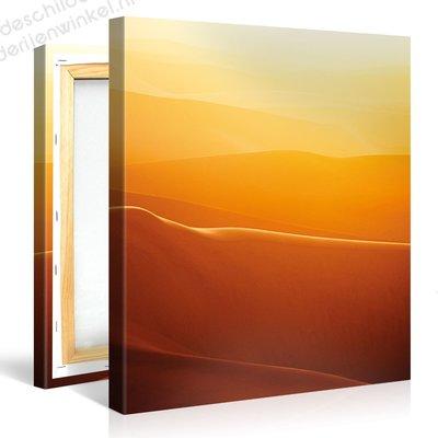 Schilderij Woestijn Oranje (80x80cm)
