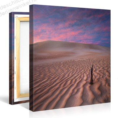 Schilderij Woestijn Paars (80x80cm)