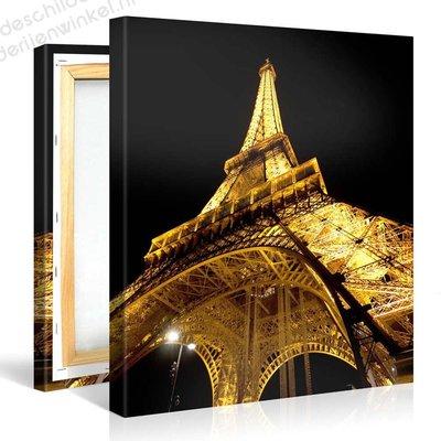 Schilderij Eiffeltoren Parijs 's Nachts (80x80cm)