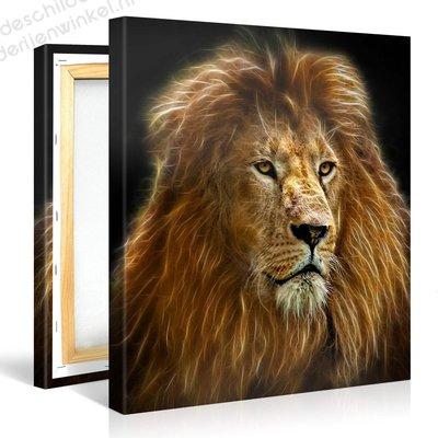 Schilderij Leeuw Spirit (80x80cm)