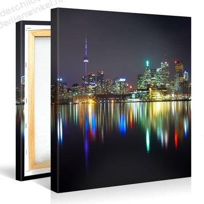 Schilderij Toronto Stad Panorama (80x80cm)
