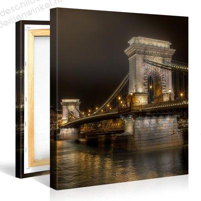 Schilderij Budapest Kettingbrug (80x80cm)
