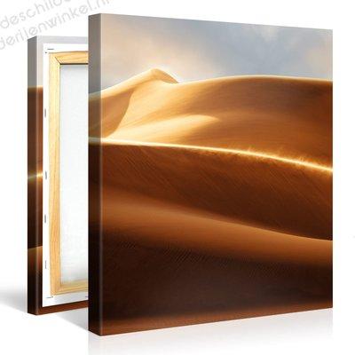 Schilderij Winderige Woestijn (80x80cm)
