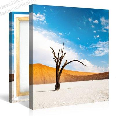 Schilderij White Sand Blue Sky (80x80cm)