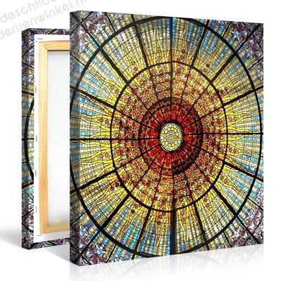 Schilderij Glas in Lood Mozaiek (80x80cm)