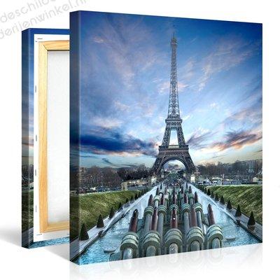 Schilderij Eiffeltoren Parijs In Focus (80x80cm)