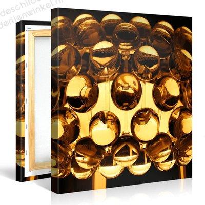 Schilderij Gouden Retro Lamp (80x80cm)