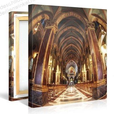 Schilderij Kerk Interieur (80x80cm)