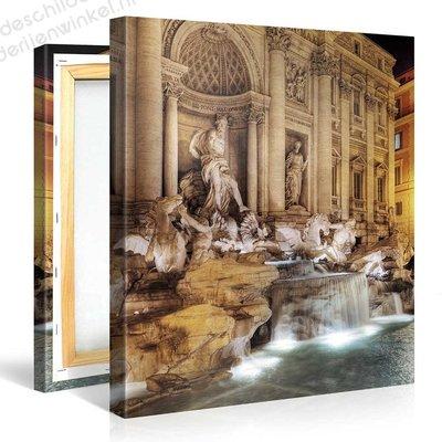 Schilderij Trevi-fontein In Rome (80x80cm)