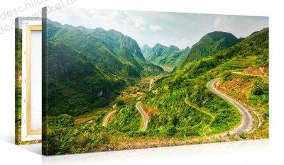 Schilderij Bergweg (100x50cm)
