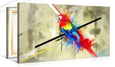 Schilderij Funky Papegaai (100x50cm)