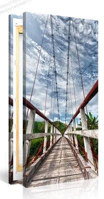 Schilderij Hangbrug (100x50cm)