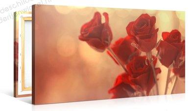Schilderij Rode Rozen (100x50cm)