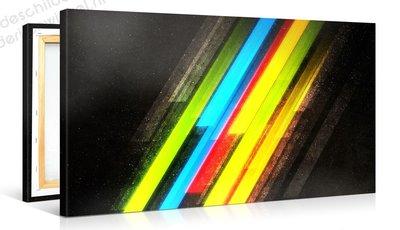 Schilderij Ruimte Regenboog (100x50cm)