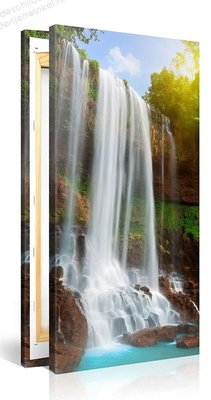 Schilderij Waterval (100x50cm)