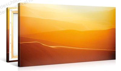 Schilderij Woestijn Oranje (100x50cm)