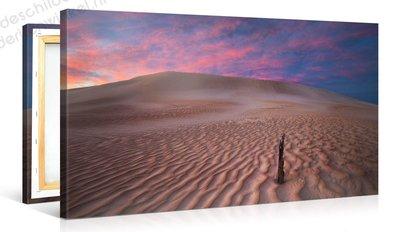 Schilderij Woestijn Paars (100x50cm)