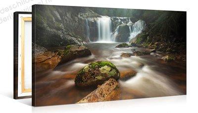 Schilderij Rotsachtige Rivier (100x50cm)