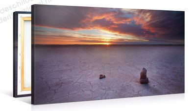 Schilderij Rotsformatie Woestijn Zonsondergang (100x50cm)