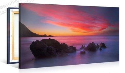 Schilderij Paarse Zee (100x50cm)