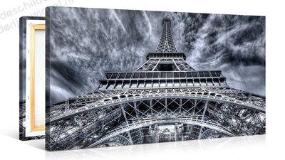 Schilderij Eiffeltoren Parijs Grijs (100x50cm)