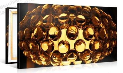 Schilderij Gouden Retro Lamp (100x50cm)