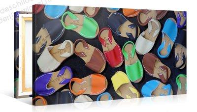 Schilderij Kleurrijke Sandalen (100x50cm)